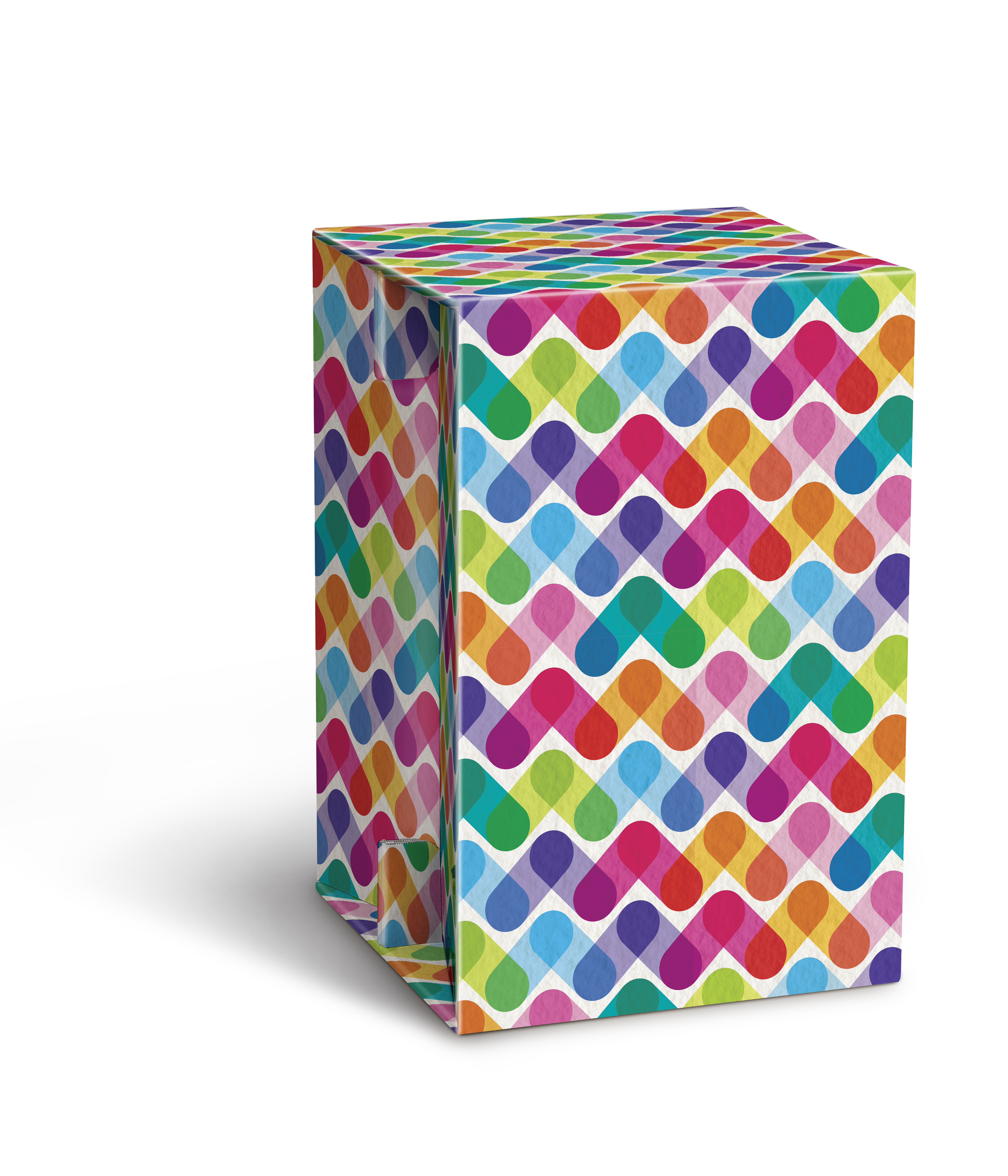 Carton Cajon - Colored Stripes